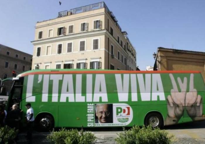 Il partito di Renzi? Italia Viva, proprio come lo slogan di Veltroni