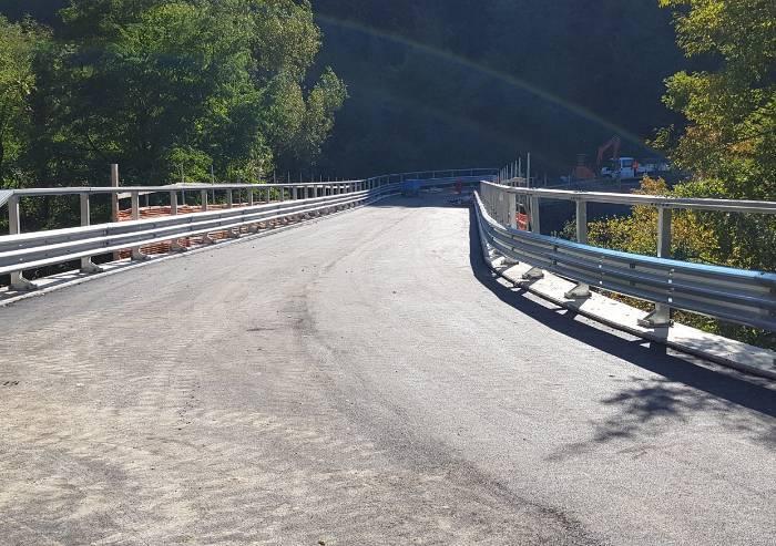 Montese, domani riapre il ponte sul rio Saburano