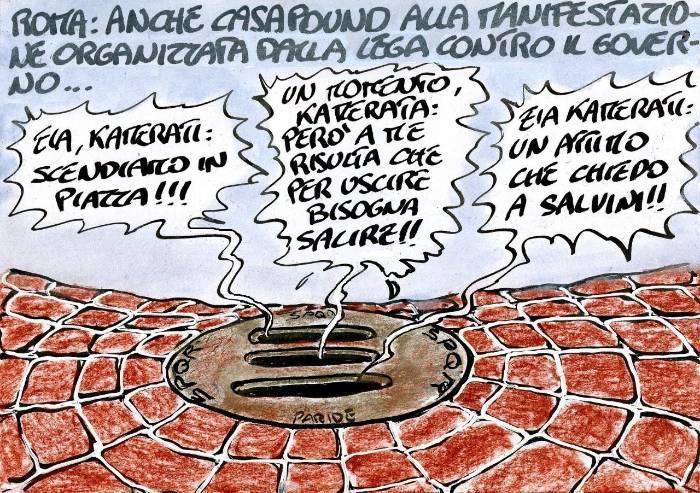 Casapound manifesta a Roma