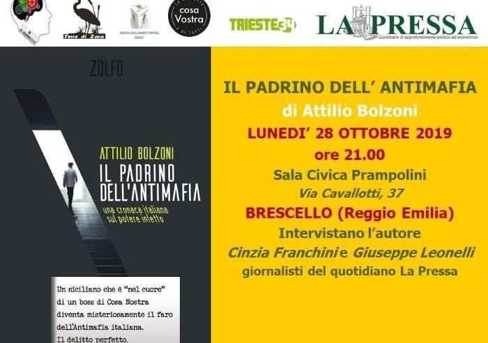 Mafia, lunedì torna Bolzoni a Brescello col 'Padrino dell'Antimafia'