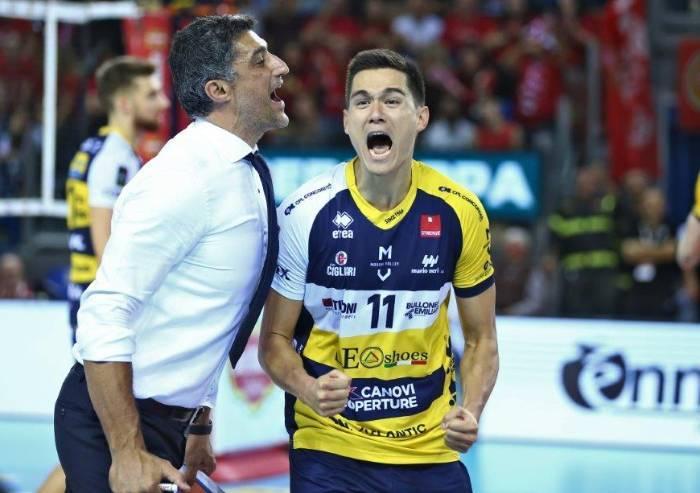 Modena Volley, gioia contro Lube: 3-1 alla Lube, è finale Supercoppa