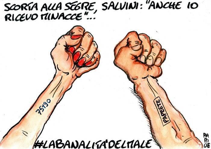 Scorta alla Segre e minacce a Salvini: le differenze
