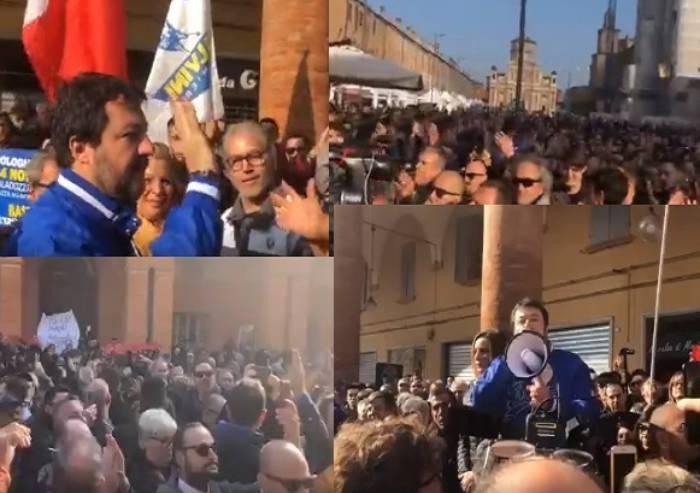 Salvini (e Borgonzoni), a Carpi: 'Il muro di Berlino cadrà anche qui'