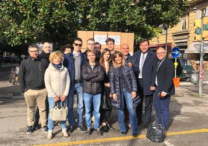 I giovani di Fratelli d'Italia abbattono 'i muri moderni dell'Europa'