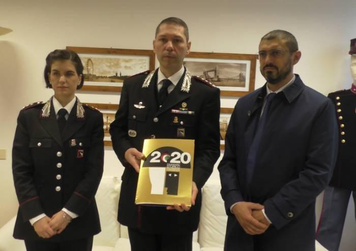 Palladino e Mazzantini firmano il calendario 2020 dei Carabinieri