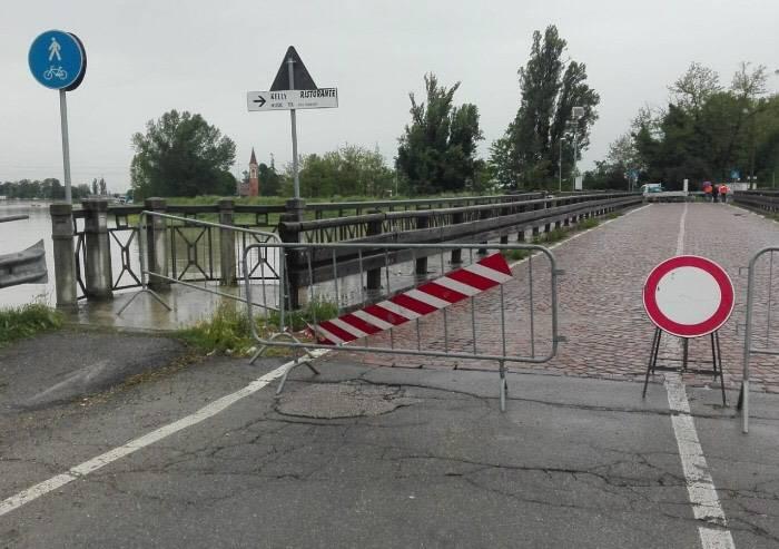 Allerta meteo, fiumi in piena: ponti chiusi a Modena