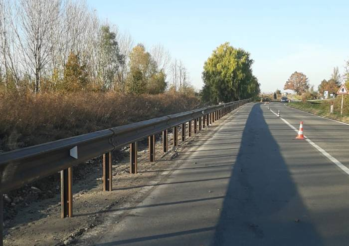 Carpi, nuove barriere guardrail sulla Romana Nord