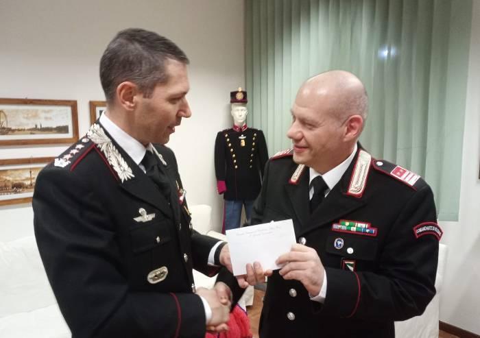 Concordia, congedo e ringraziamenti per il comandante dei carabinieri