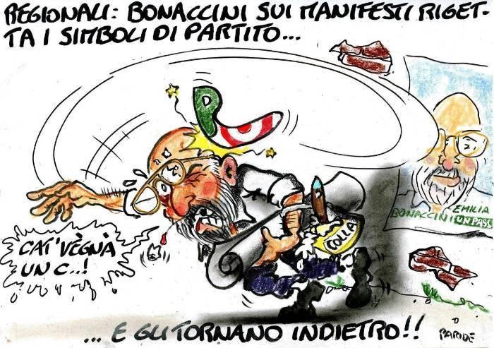 Il boomerang di Bonaccini che si vergogna del Pd