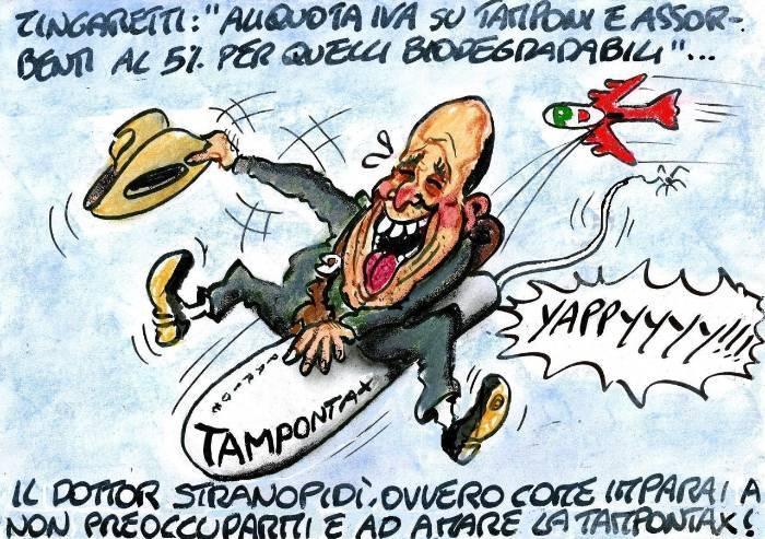 Tampontax, la gioia Pd