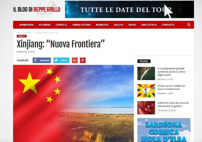 Il blog di Beppe Grillo nega la repressione cinese degli Uiguri