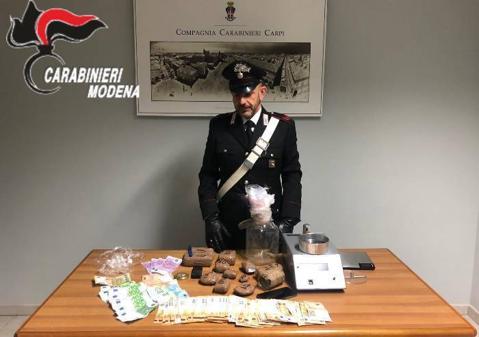 Carpi, operazione Castelli di Coca 2: sequestro da 1,5 kg e un arresto