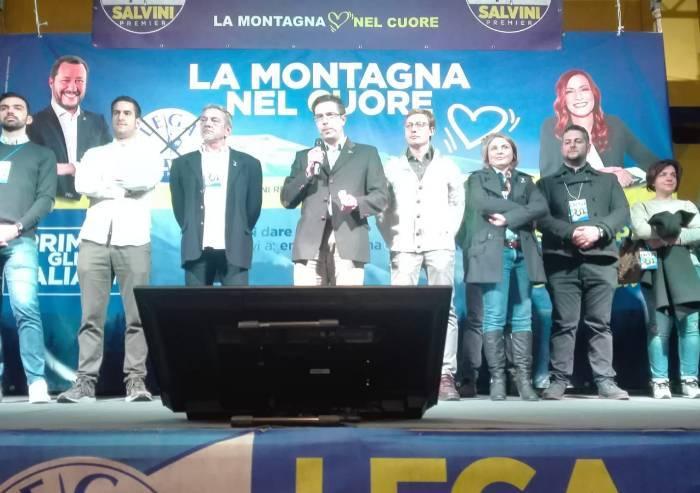 Salvini a Pievepelago, vandali in palestra nella notte