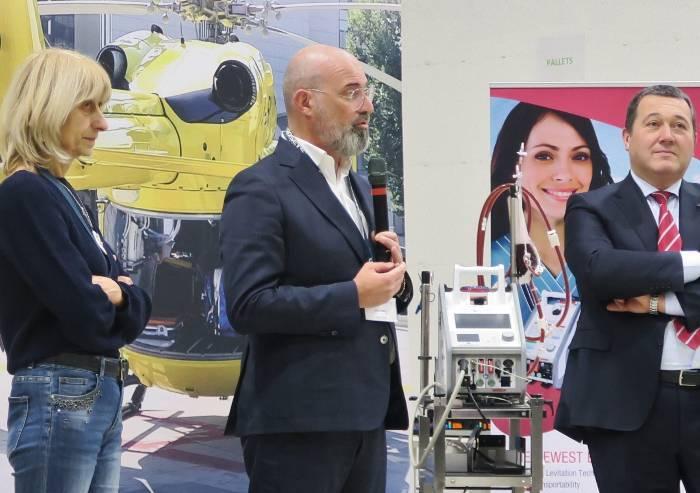 Biomedicale, visita di Bonaccini e Costi alla azienda Eurosets