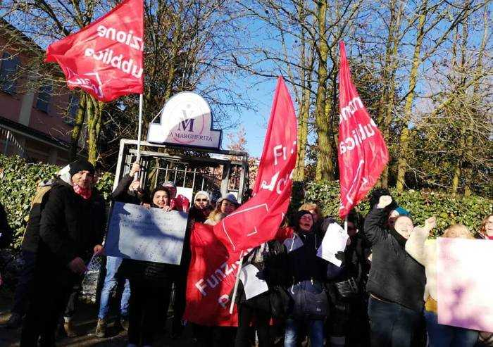 Residenza anziani villa Margherita, sciopero dei dipendenti