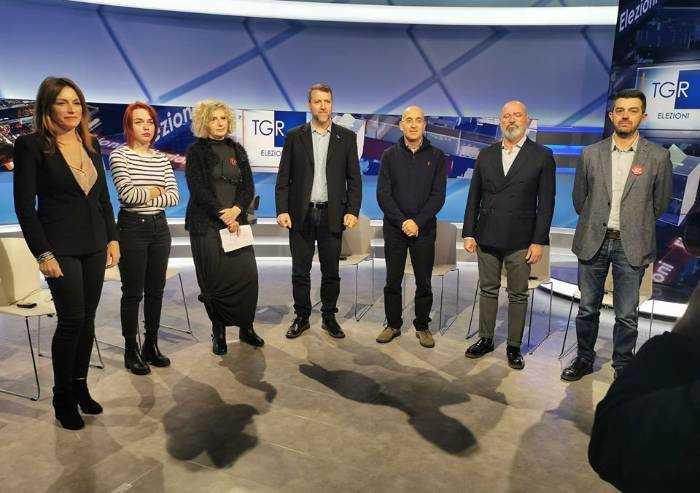 Voto in Regione, primo confronto tra i 7 candidati: sanità al centro