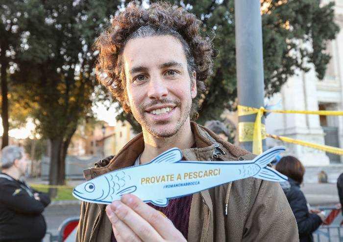 Sondaggio Dire-Tecnè: il partito delle sardine vale l'11,4%