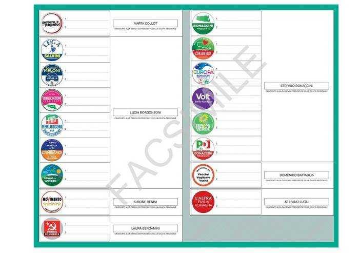Urne aperte per le Regionali: a Modena una scelta tra 17 liste