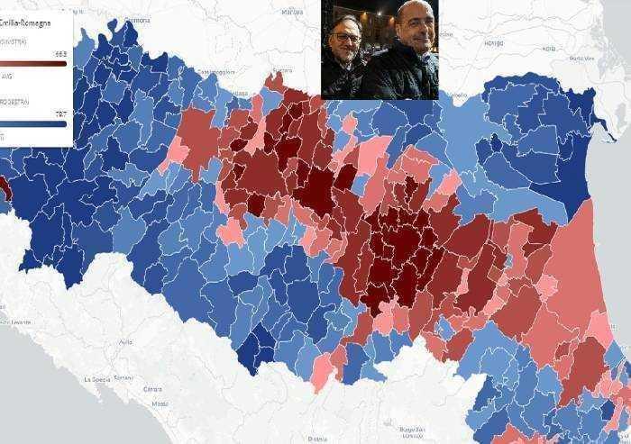 Regione rossa solo al centro, montagne e periferie al centro-destra, Tomei: 'Qualcosa abbiamo sbagliato'