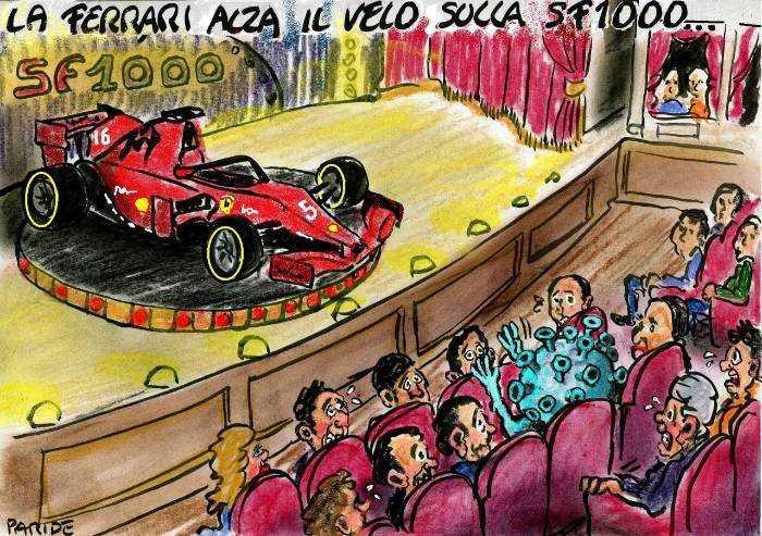 Ferrari, presentazione con intruso