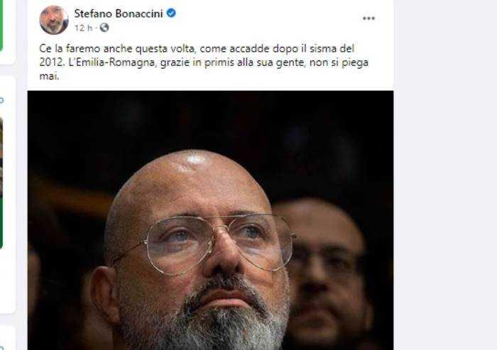 Delirio social, Bonaccini paragona il coronavirus al terremoto 2012
