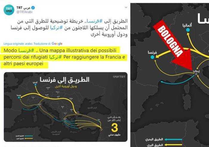 Lega: 'Tv araba consiglia a immigrati di venire a Bologna'