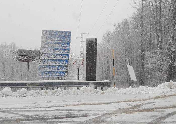 Neve in Appennino, a Frassinoro 10 centimetri