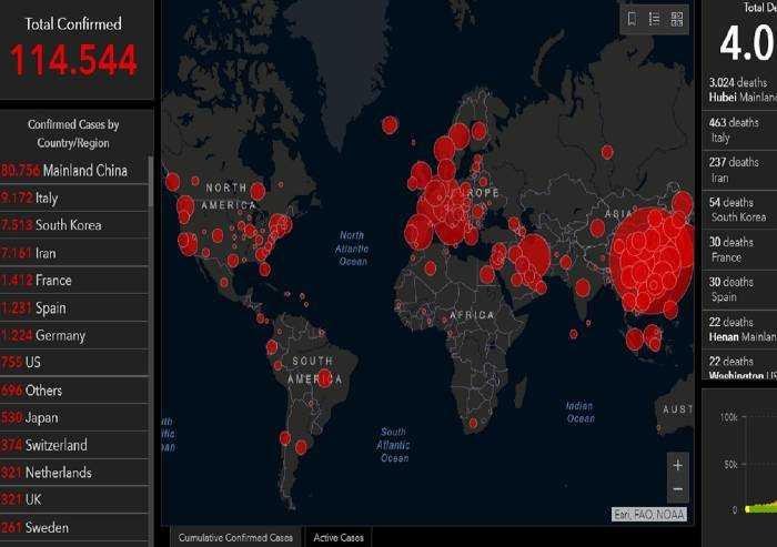 In Italia virus senza freni, secondi al mondo per contagi e per morti