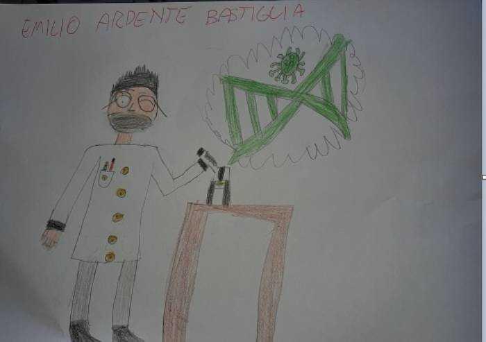 Lo sguardo dei bambini: medico trova un cancello contro coronavirus