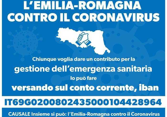 Coronavirus: da oggi possibile fare donazioni in Emilia Romagna