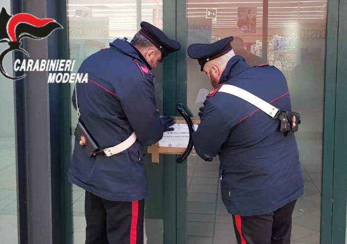 Soliera: sala slot aperta, sigillata dai Carabinieri