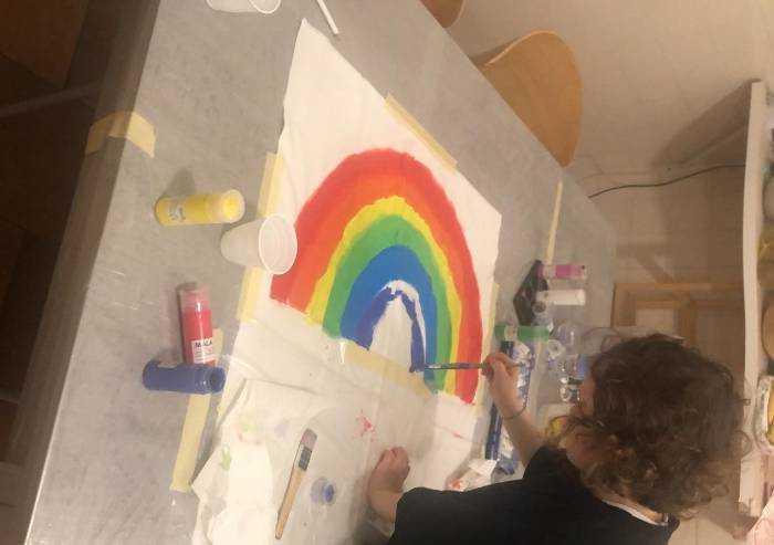 L'arcobaleno di Nina, un incoraggiamento per tutti