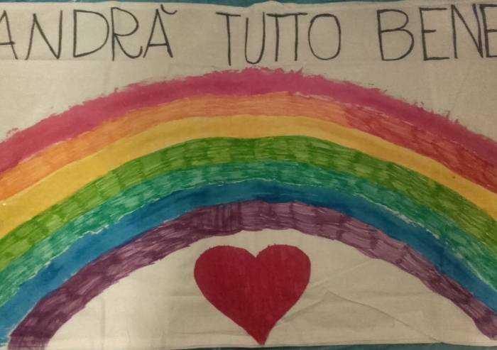 Un cuore protetto da un arcobaleno