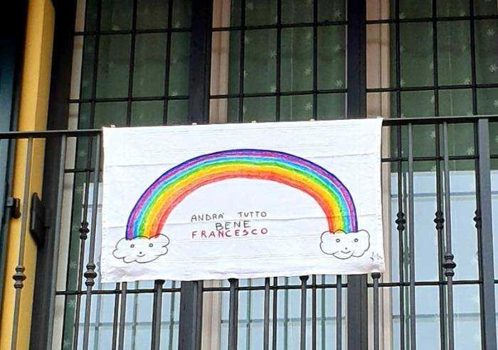 L'arcobaleno del piccolo Francesco e di mamma Serena
