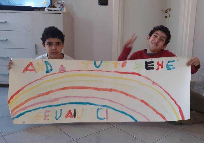 Giovanni e Francesco, un arcobaleno e una preghiera