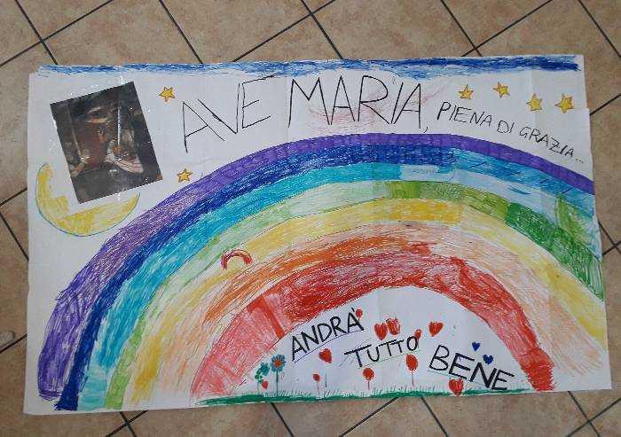Da Paolo e Andrea un arcobaleno e una preghiera