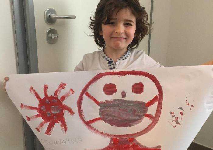 Pietro sorride nonostante tutto: la speranza nei disegni di bimbi