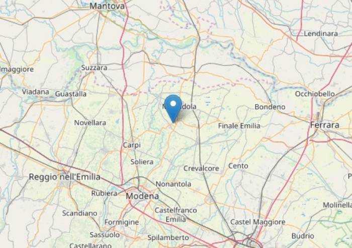 Cavezzo: scossa di terremoto 2.6, nessun danno