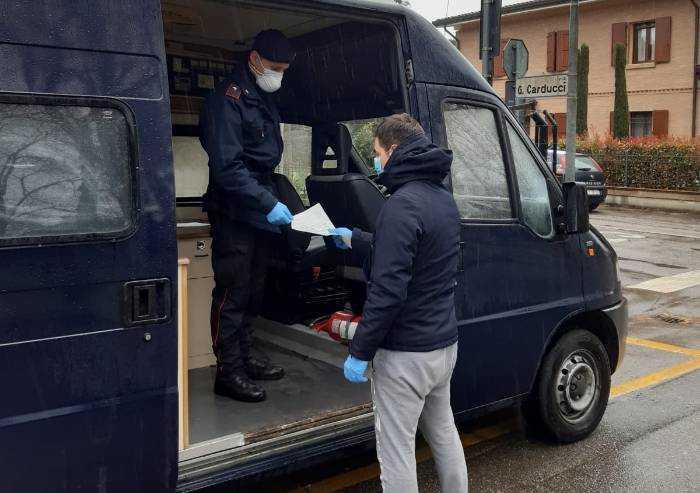 Carabiniere positivo al Coronavirus, sanificata la caserma di Cavezzo