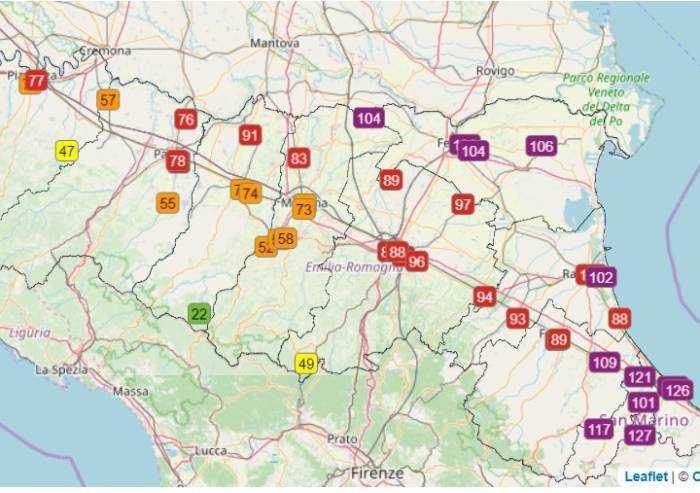 Traffico quasi azzerato, ma in Emilia Romagna l'aria è da incubo