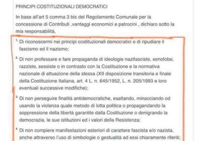 Covid, a Parma per avere i buoni spesa bisogna dichiararsi antifascisti