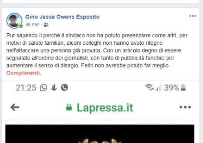 Sindaco 'invisibile'. E il fotografo della Gazzetta di Modena attacca La Pressa