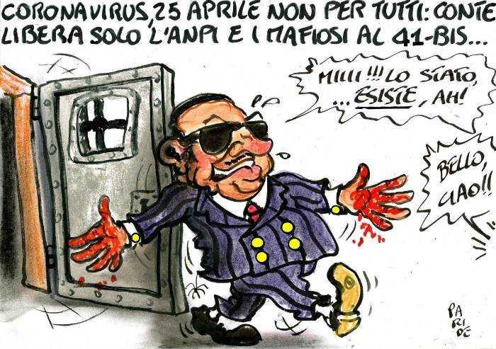 25 aprile: intanto mafiosi al 41-Bis vanno ai domiciliari. Bella Ciao!