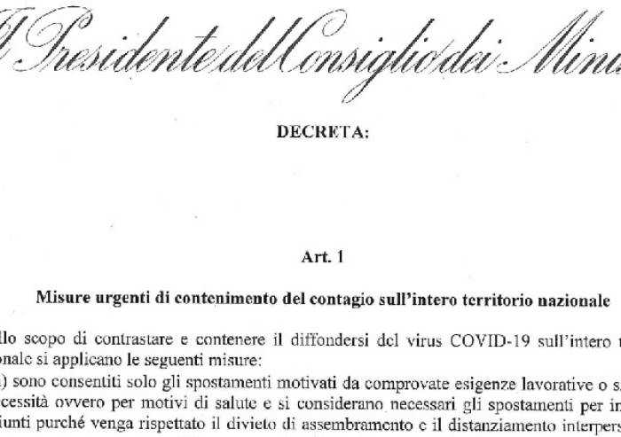 Conte ha firmato il decreto: ecco il testo integrale