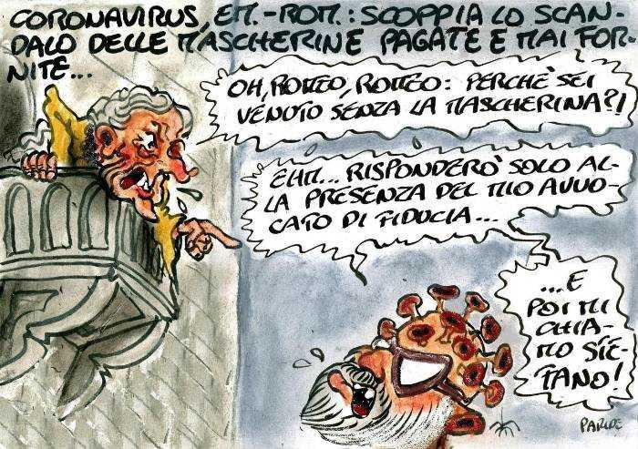 Bonaccini e il discorso dal balcone. Oh Romeo... La mascherina?