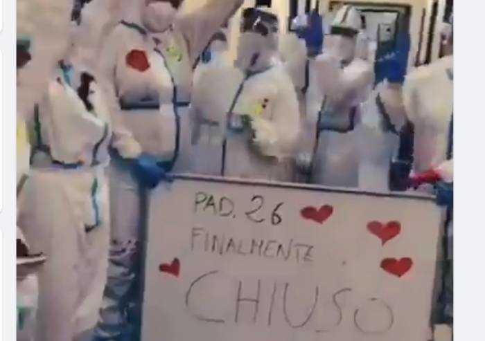 A Parma chiude il padiglione covid dell'ospedale