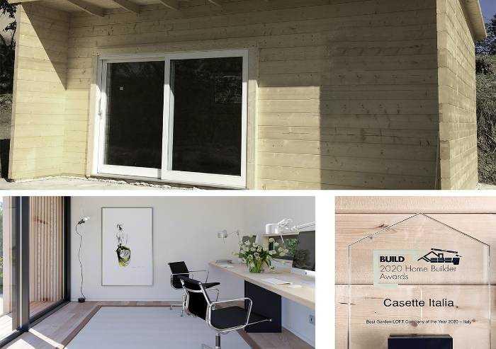 Casette Italia, le casette in legno made-in-Modena vincono l'Award 2020 di Build Magazine