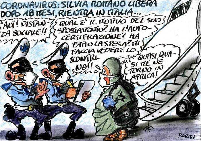 Silvia Romano e l'arrivo in Italia