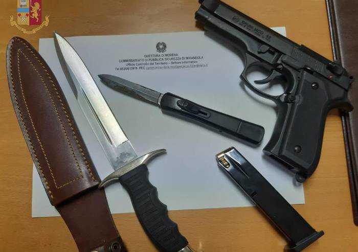 Mirandola: porto abusivo di armi, 5 ragazzi nei guai