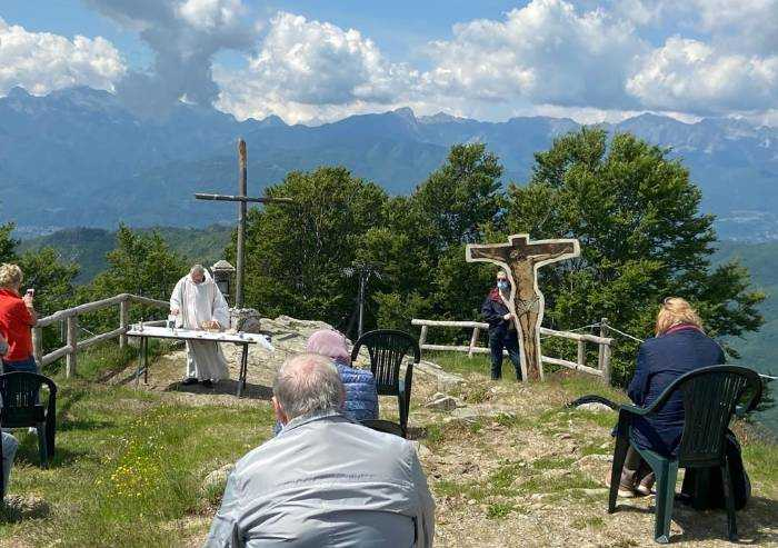 Frassinoro apre confine con Toscana (Pieve no). Messa a San Pellegrino in Alpe